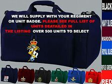 UNITS A TO D EMBROIDERED REGIMENTAL ARMY RAF ROYAL NAVY MARINES KIT BAG HOLDALL