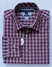 NWT Tommy Hilfiger Men's Long Sleeve Plaid Shirt Size: M, L