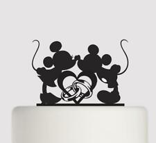Mickey Mouse & Minnie Mouse Wedding Acrylic Cake Topper wedding cake topper