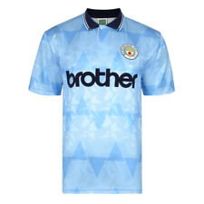 Official Retro Manchester City 1989 Retro Football Shirt 100% POLYESTER