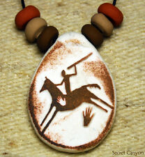 ~SPIRIT HORSE~~~ and Rider  Pendant - Native American Indian - Rock Art