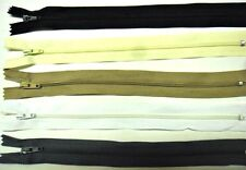 """ZIPS 9"""" 23CM CLOSED END NYLON, X6, VARIOUS COLOURS AVAILABLE"""