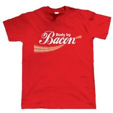 Body By Bacon, Funny Mens T Shirt - Birthday Gift For Dad Him Fathers Day