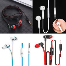 3.5mm Stereo In-Ear bass Earbud Earphone Headset with Mic for iphone Samsung rff
