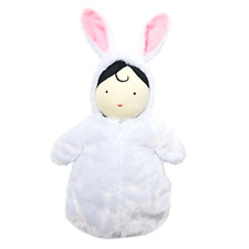Doll and Hooded Bunny Sleep Sack Manhattan Toy Snuggle Baby Ultra Soft 10 Inches