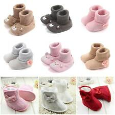 Baby Girl Snow Boots Winter Booties Infant Toddler Newborn Crib Shoes 0-18Months
