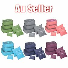 6Pcs Waterproof Travel Storage Bag Clothes Packing Cube Luggage Organizer PouchR