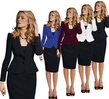 Elegant Women's Wear to Work Office Lady Career Business Suits Blazer Coat Newly