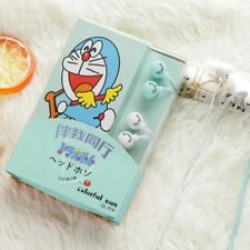 2 pcs/set Lovers Cute Lovely Cartoon Doraemon Candy Colour 3.5mm In-Ear Stereo M