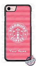 Starbucks Pink Phone Case Cover personalized for iPhone 7 Samsung LG etc