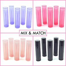 10pcs Clear Pink Empty Lipstick Lip Balm Tube Container wCaps Choose Your Combo