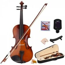 4/4 Natural Acoustic Student Violin Outfit with Shoulder Rest Extra Strings