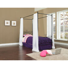 Canopy Wrought Iron Princess Bed, Multiple Colors