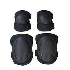 Tactical Adjustable Knee/ Elbow Pad Sets Airsoft Combat Skate Protective Pads