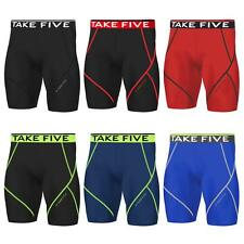 New Mens Compression Pants Sports Base Layer Shorts Tights Workout Take 5Gym