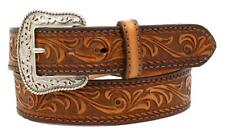 "Nocona Western Mens Belt Leather ""Tuscon"" Made in USA Light Brown N2300137"