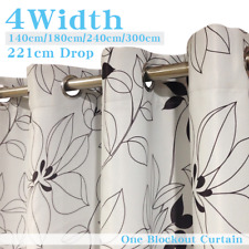 Single Panel Eyelet Ready Made BLOCKOUT Curtain from 140cm-300cm