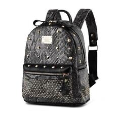 Women Girl Mini Size Solid Color New Fashion Rivet Decorated Style Backpack