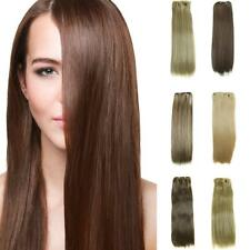 "24"" 16 Clip In Hair Extensions Synthetic Long Straight Hairpiece Heat Resistants"