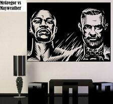 Conor McGregor vs Floyd Mayweather Fight Showdown Poster Removable Wall Sticker