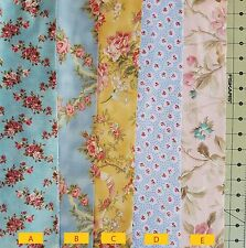 Fabric, Robyn Pandolph, 5 yard cut, 5 choices in Blue, Pink, or Yellow