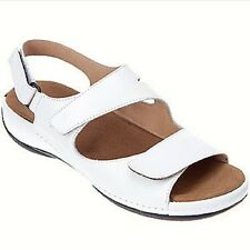 Brand New WOLKY Womens LIANA Slingback Sandals White Smooth Leather LIANA 315310