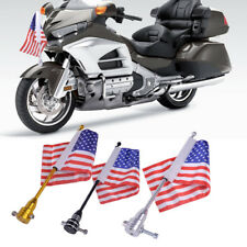 American USA  Rack Flag Flagpole For Motorcycle Bike Luggage Rack Mount Mounting
