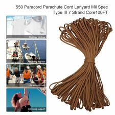 New 7 Strand Core100FT 550 Paracord Parachute Cord Lanyard Mil Spec Type PL