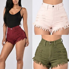 Summer Women Girl Casual High Waisted Short Mini Jeans Ripped Jeans Shorts Pants