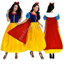 Adults Snow White Costume Fairytale Princess Halloween Cosplay Party Fancy Dress