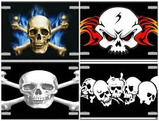 "Halloween Skull License Plate, Aluminum Metal Signs, 6""x12"" NEW"