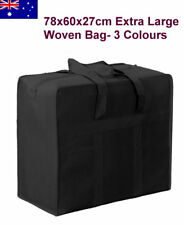78x60x27cm Extra Large Foldable Woven Carry Moving Storage Travel Luggage Bag