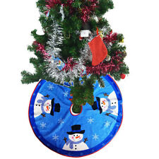 Snowman Santa Claus Christmas Tree Skirt Stand Ornament Home Party Decor Solid
