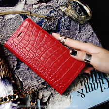 Gaze Ruby Croco Wallet for iPhone 7, 7 Plus Case Leather Cover Clutch Red Korea