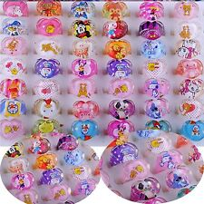 Wholesale Lots 20/50PC Jewelry Mixed Lots Resin Lucite Children/Kid Rings Gift