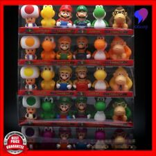 6pcs/set Super Mario Bros Luigi Mario Yoshi Bath Toys Action Figure Toy 7cm