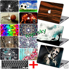 "Customize Paint Hard Case +FREE kb Cover For Macbook Pro Air 11""13""15""Retina 12"""