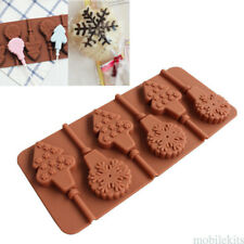 Smile Face Lollipop Silicone Mold Chocolate Mold With Sticks Baking DIY Tools
