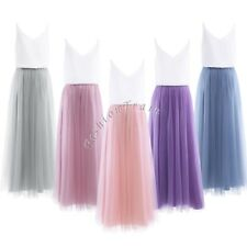 Sexy Women Wedding Bridesmaid Evening Party Cocktail Gown Top Skirt Summer Dress