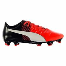Puma Evo Power 2.3 FG Firm Ground Football Boots Mens Rd/Blk Soccer Cleats Shoes
