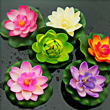 Artificial Lotus Water Lily Floating Flower Garden Pool Pond Tank Plant Ornamen
