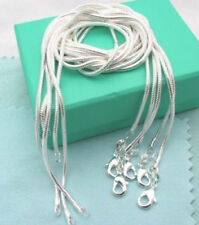 """Wholesale 925 sterling silver lots 5pcs 1mm snake chains 16""""-30"""" Necklace"""