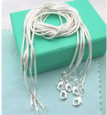 wholesale 925sterling solid Silver lots 5pcs 1mm snake chain Necklace 16-24inch