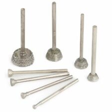 10Pcs 3-10mm SHORT INVERTED CONICAL Diamond Grinding Head Lapidary Tools Stone