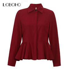 Women Tops And Blouses Autumn Fashion Collar Long Sleeve Chiffon Blouse MSRP $23