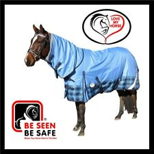 LOVE MY HORSE 600D 180g 6'0 - 6'6 Reflective Winter Combo Waterproof Rug Tartan