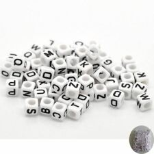 Mixed Color Acrylic Letter Alphabet Beads Cube Beads For Jewelry Making