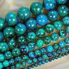 """4.6.8.10.12. 14mm Dia 15.5"""" Size Round Shape Blue Color Beads For Jewelry Making"""