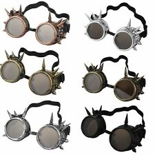 Vintage Victorian Steampunk Goggles Glasses Welding Cyber Punk Gothic Cosplay KE
