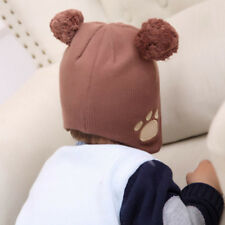 Infant Caps for Girls Boyes Ear Care Hat Winter Crochet 2017 Baby Bear Beanie